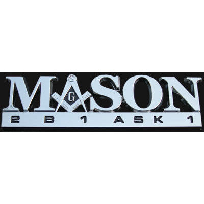 Mason Greek Car Emblem
