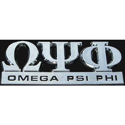 Omega Psi Phi Greek Car Emblem