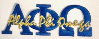 Alpha Phi Omega Signature Patch