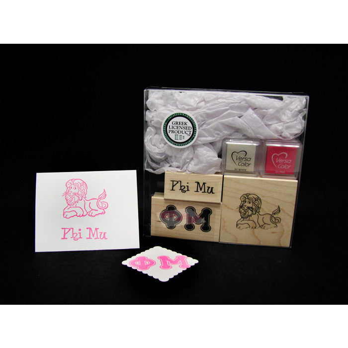 Phi Mu Rubber Stamp Kit