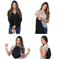 Monogramed Quikflip 2-in-1 Full-Zip Hero Hoodie Lite
