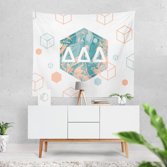6 Point Marble Sorority Tapestry