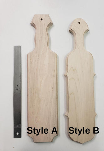 Unstained Oak Paddle