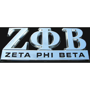 Zeta Phi Beta Greek Car Emblem