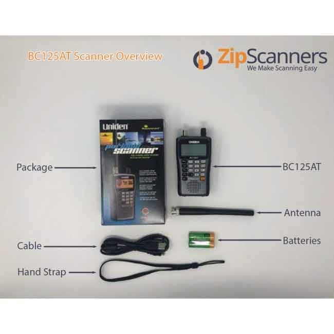 BC125AT Police Scanner | Uniden Analog Handheld Scanner
