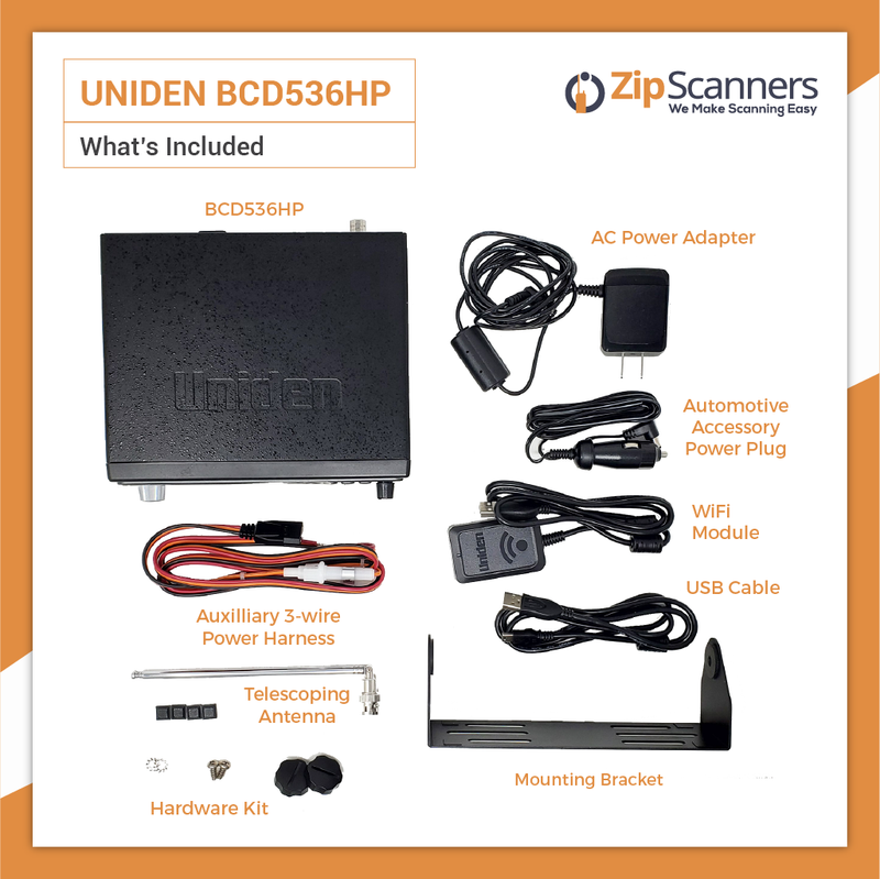 BCD536HP Police Scanner Uniden Digital BaseMobile Scanner What Is Included