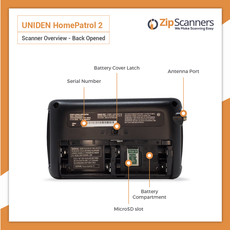 HomePatrol 2 Police Scanner  Uniden Digital Base Scanner BACK OPENED