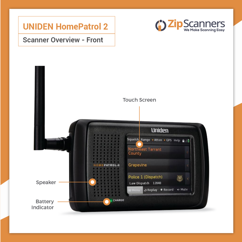 HomePatrol 2 Police Scanner  Uniden Digital Base Scanner FRONT