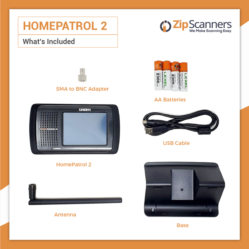 HomePatrol 2 Police Scanner Uniden Digital Base Scanner What Is Included