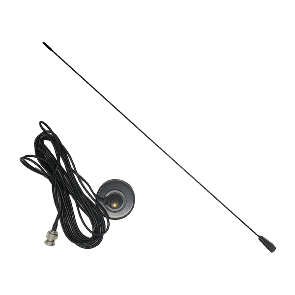 ProComm Vehicle Magnet Mount Antenna for Police Scanners Pure White