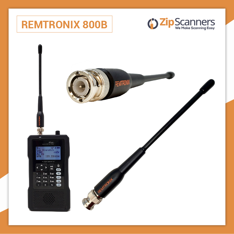 Remtronix Police Scanner Antenna On Set 700-800mHz 800B Zip Scanners