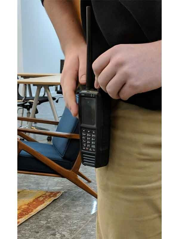 SDS100 Police Scanner Uniden Digital Handheld Scanner back remtronix antenna belt
