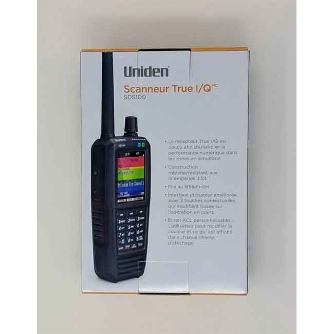 SDS100 Police Scanner Uniden Digital Handheld Scanner box back