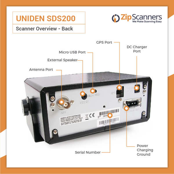 SDS200 Police Scanner Uniden Digital BaseMobile Scanner BACK