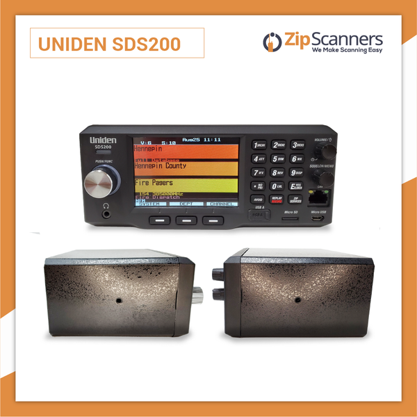 SDS200 Police Scanner Uniden Digital Base Mobile Scanner Zip Scanners