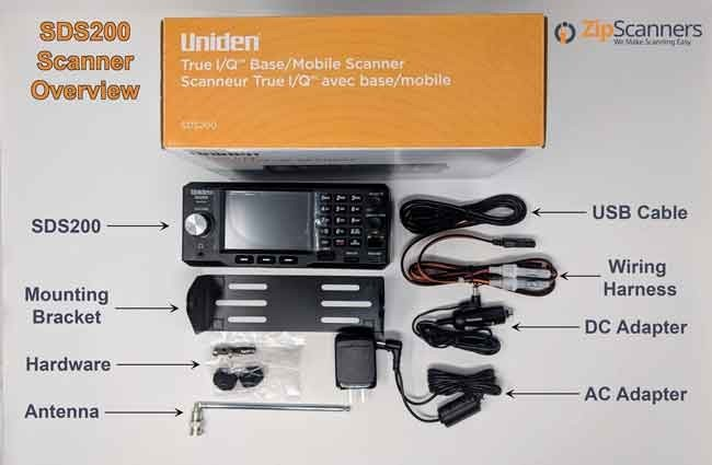 SDS200 Police Scanner Uniden Digital Base Mobile Scanner contents