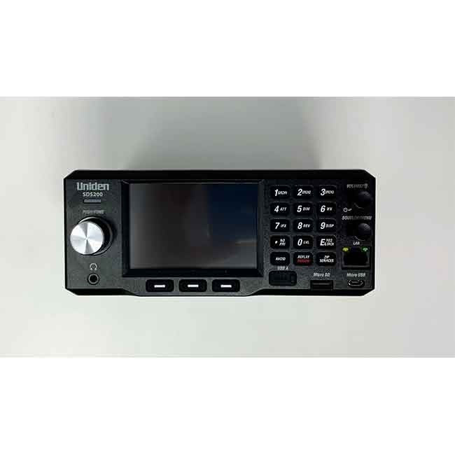 SDS200 Police Scanner Uniden Digital Base/Mobile Scanner face