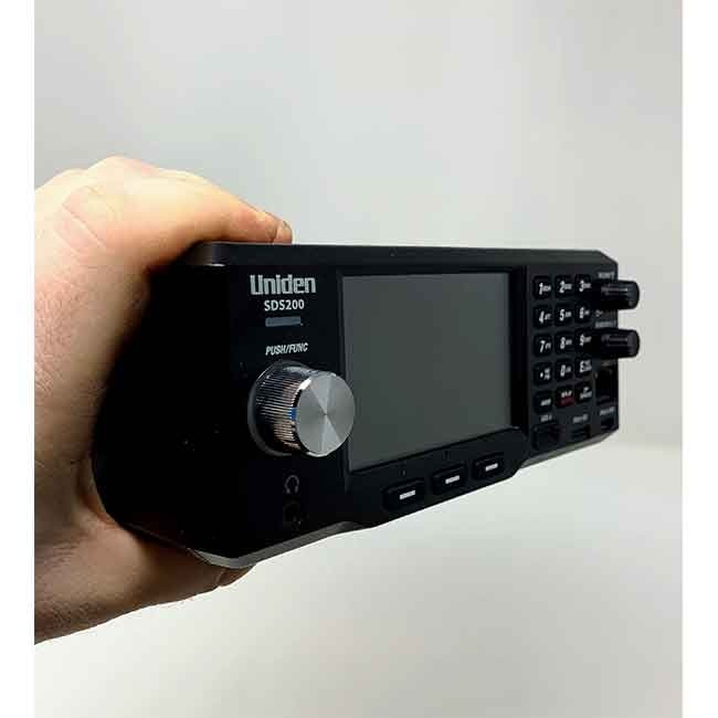 SDS200 Police Scanner Uniden Digital Base/Mobile Scanner front left hand