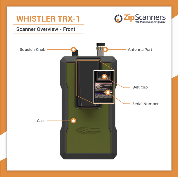 TRX-1 Police Scanner Whistler Digital Handheld Scanner BACK