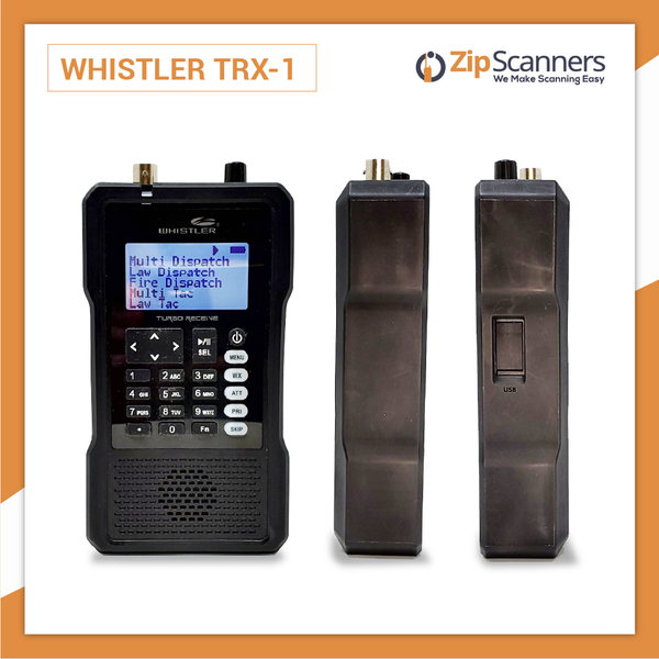 TRX-1 Police Scanner  Whistler Digital Handheld Scanner Zip Scanners