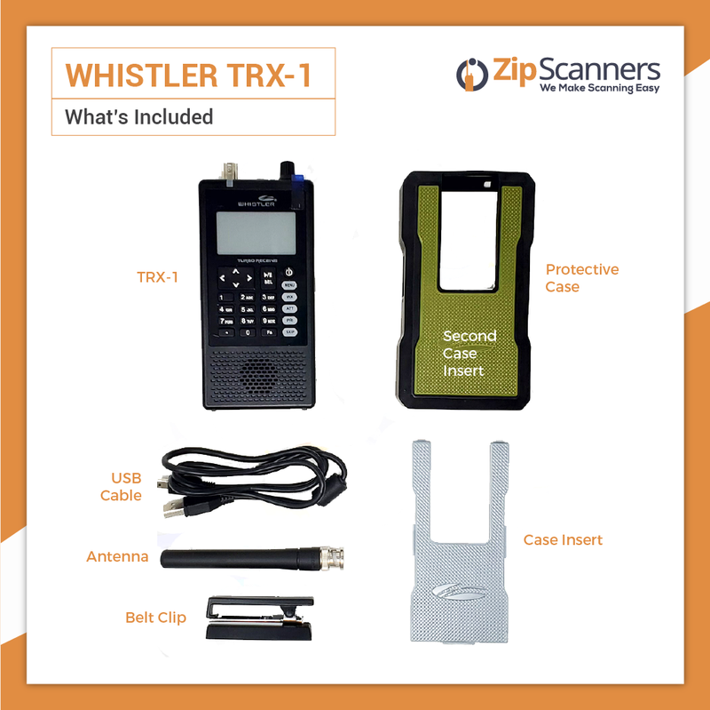 TRX-1 Whistler Police Scanner included