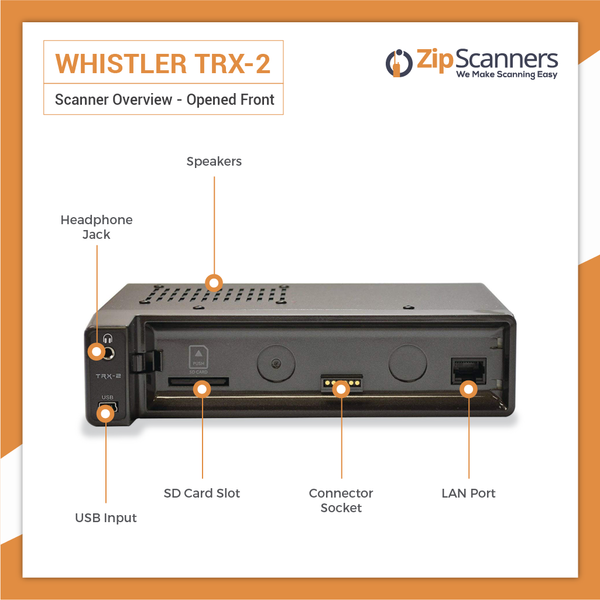 TRX-2 Police Scanner | Whistler Digital Base/Mobile Scanner Opened Zip Scanners