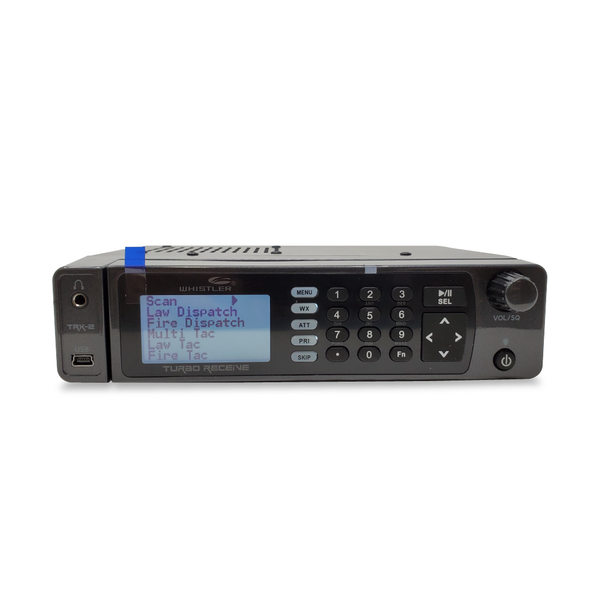 TRX-2 Police Scanner  Whistler Digital Base Mobile Scanner Pure White Front