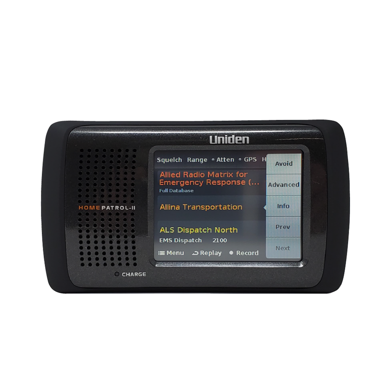HomePatrol 2 Police Scanner | Uniden Digital Base Scanner Pure White Front