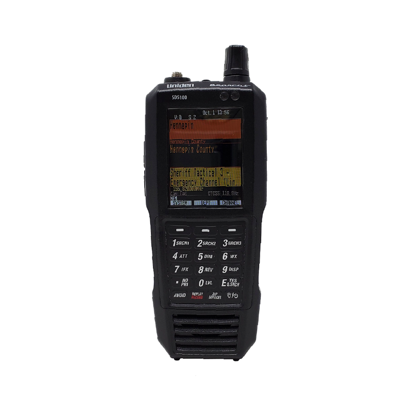 SDS100 Police Scanner | Uniden Digital Handheld Scanner Pure White Front