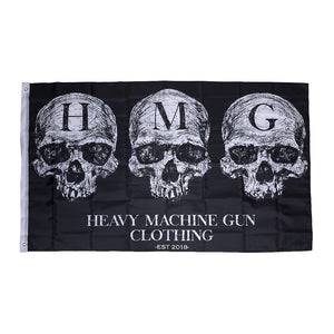 This is the HMG Logo Black Flag from the UK Veteran owned apparel company HMG Clothing.