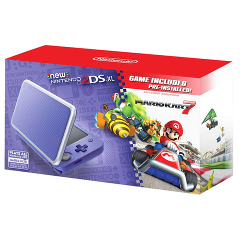 2DS XL PURPLE & SILVER MARIO KART7 - Gamers
