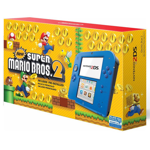 NINTENDO 2DS ELECTRIC BLUE + SUPER MARIO BROS 2.-2DS - Gamers