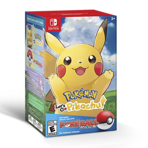 POKEMON LETS GO PIKACHU+POKEBALL PLUS BUNDLE.-NSW - Gamers