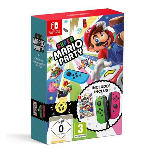 SUPER MARIO PARTY + JOYCON BUNDLE.-NSW