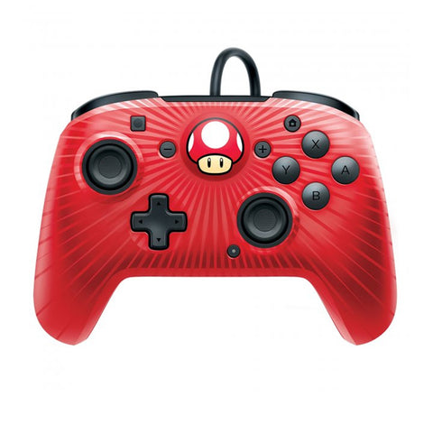 WIRED CONTROL RED MUSHROOM FACEOFF.-NSW - Gamers