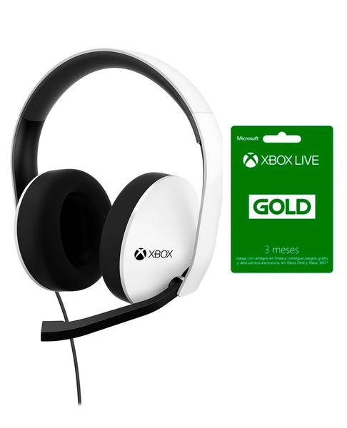 XBOX ONE HEADSET+ LIVE 3 MESES.-ONE