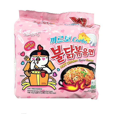 삼양 까르보나라 불닭 볶음면 멀티 (Samyang Carbonara Hot Chicken Ramen Multi) - 130g/5each