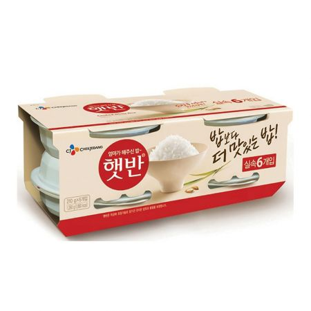 햇반 (Cooked White Rice) - 210 G x 6 Each