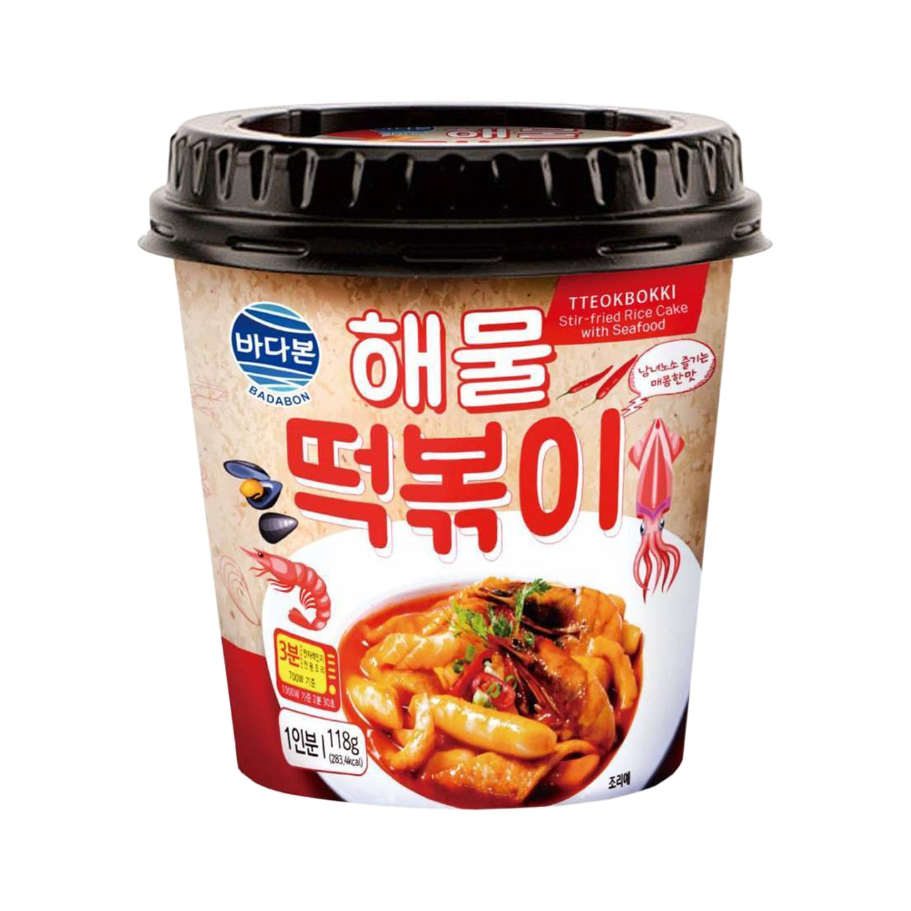 [Weekly Sale] 바다본 해물 떡볶이 (Badabon Seafood Stir-Fried Rice Cake with Ref Crab) - 118g