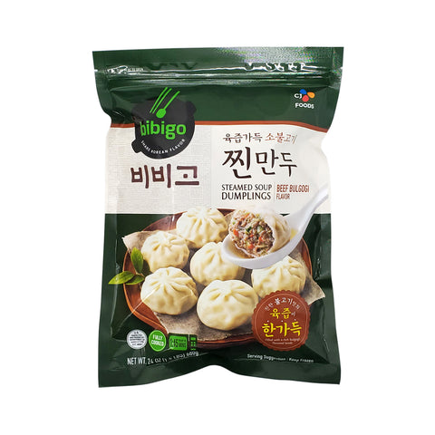 비비고 육즙가득 소불고기 찐만두 (CJ Bibigo Beef Bulgogi & Ginger Steamed Dumplings) - 24oz