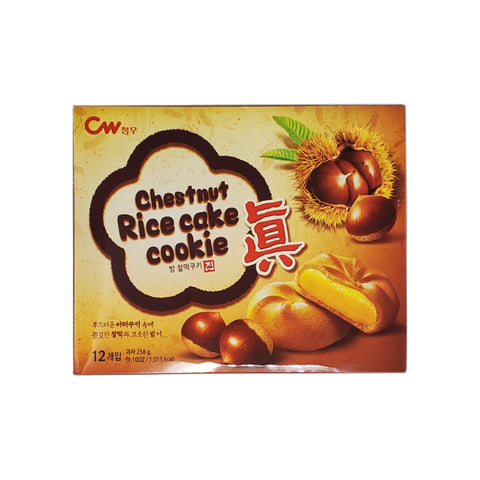 청우 밤찰떡쿠키 (Rice Cake Cookie Chestnut) - 258g
