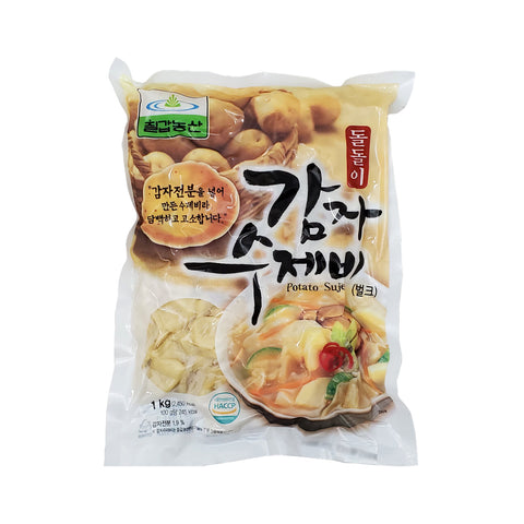 칠갑농산 돌돌이 감자 수제비 (Chilkab Frozen Korean Pasta(Sujebi)-Potato) - 1kg