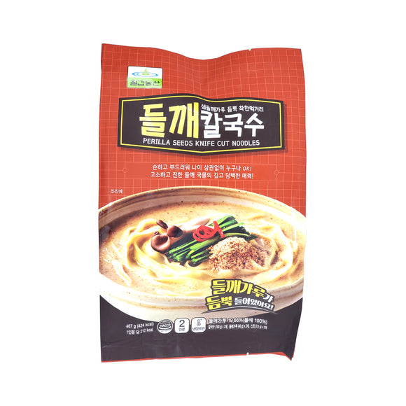 칠갑농산 들깨 칼국수 (Chilkab Knife-Cut Noodles w/Perilla Seed) - 407g