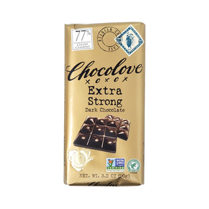 Chocolove 77% Extra Strong Dark Chocolate - 90g