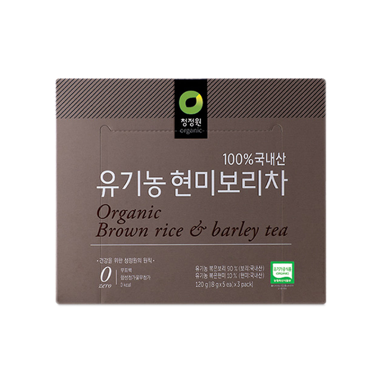 청정원 유기농 현미보리차 (Chungjungone Organic Brown Rice & Barley Tea) 120g