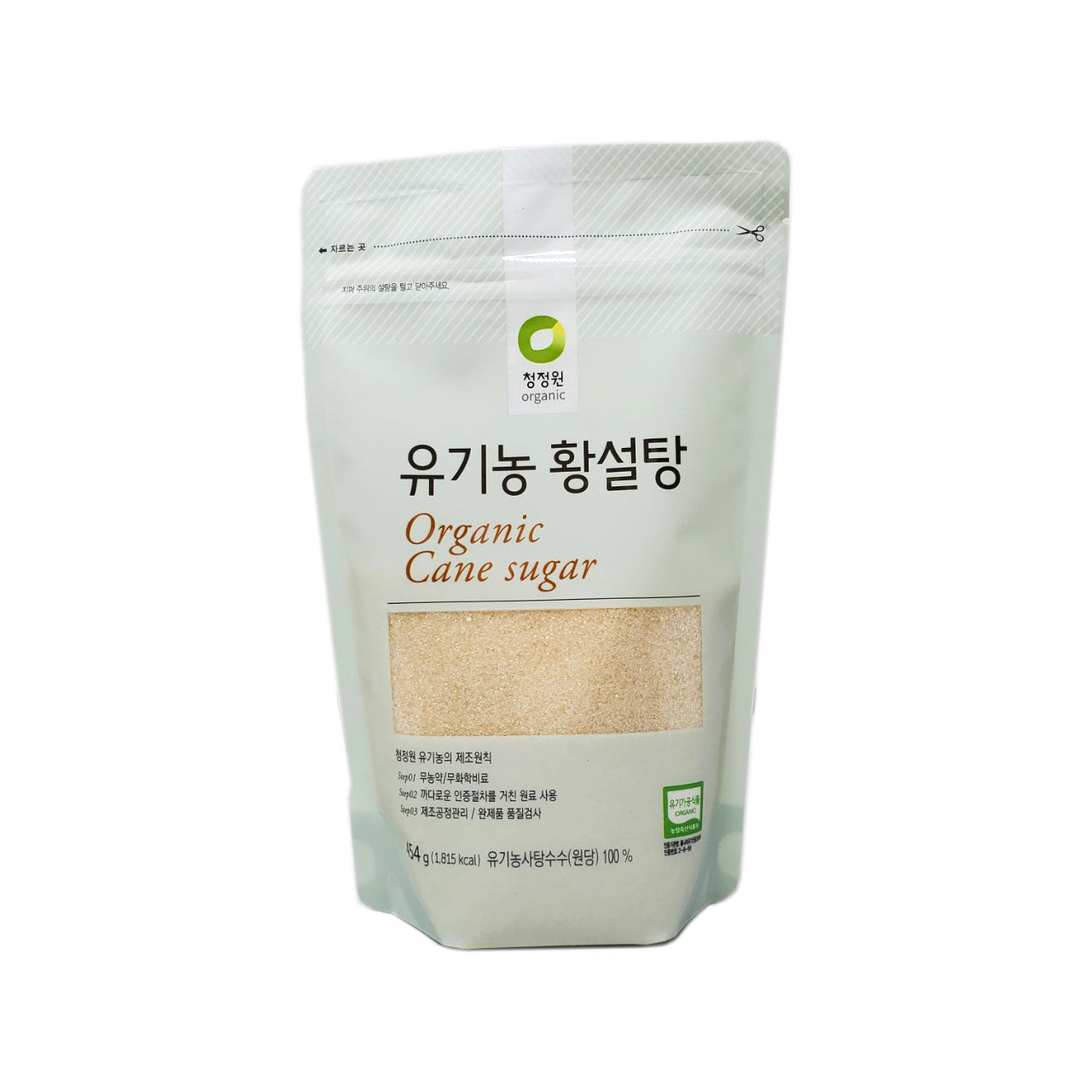 청정원 유기농 황설탕 (Chungjungone Organic Cane Sugar Brown) 454g