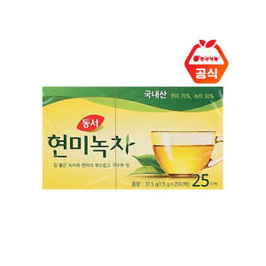 동서 현미녹차 (Dong Suh Green Tea with Brown Rice) - 1.5g x 25 bags