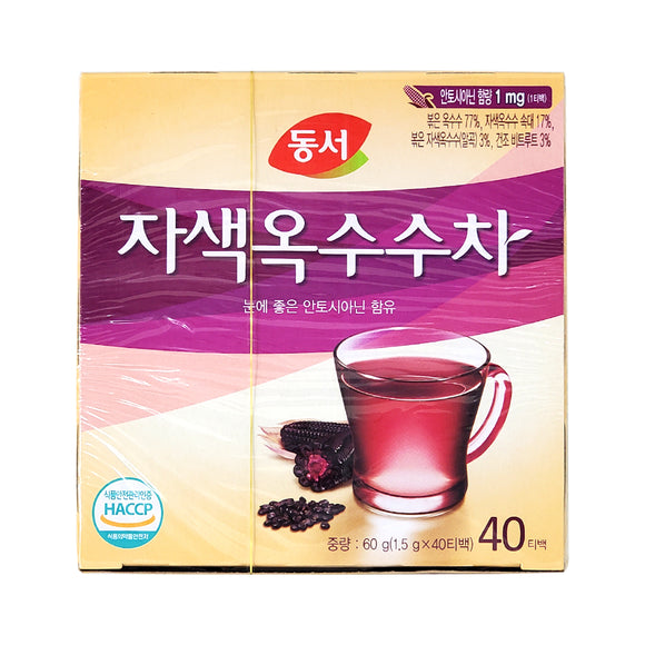 동서 자색 옥수수차 (Dongsuh Pupple Corn Tea) - 1.5g x 40t