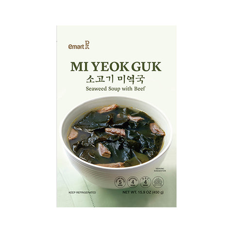 [Weekly Sale] Emart 미역국 (Seaweed Soup with Beef) 450g