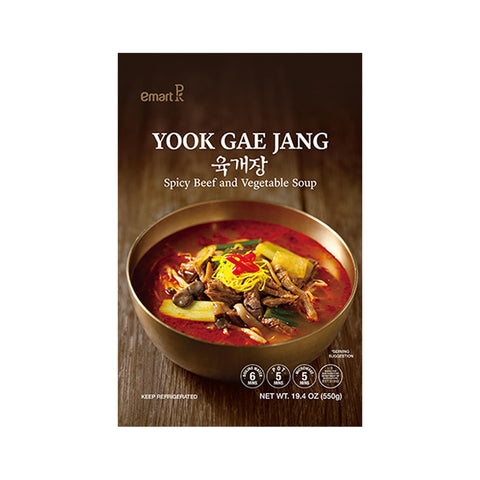 Emart 육개장 (Spicy Beef and Vegetable Soup) 550g